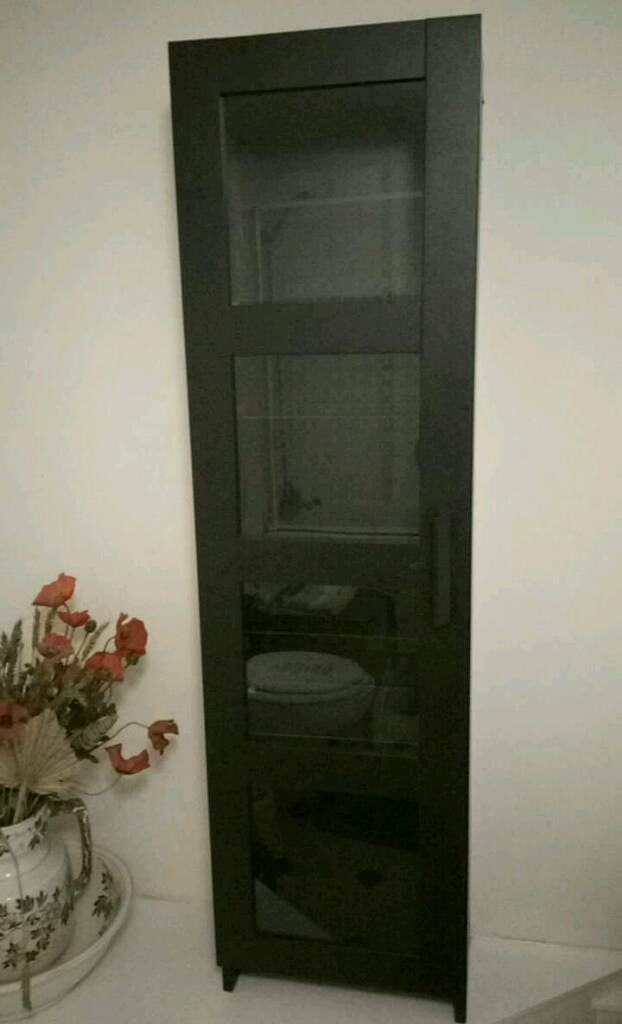 Ikea Brimnes Glass Door Cabinet Black In Huddersfield West