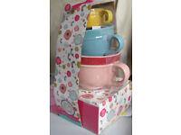 Set of 3 Ceramic Measuring Cups, NEW and unused