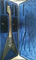 Schecter flying v with fitted case