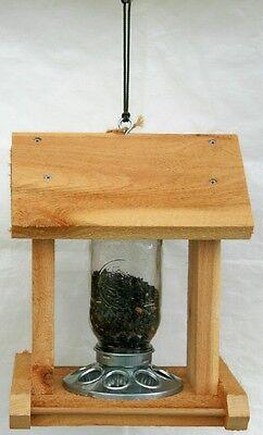 Bird Feeder 1 QT Mason Jar Feeder