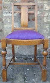 Vintage Chair Upholstered Purple - Charity