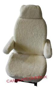 HYMER LUXURY MOTORHOME SEAT COVERS - FAUX SHEEPSKIN + ARMREST COVERS