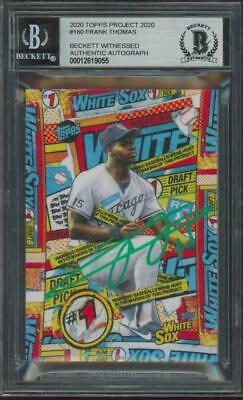 2020 Topps Project #160 Frank Thomas Auto RC Rookie BGS/BAS