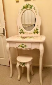 Vintage Shabby Chic Dressing Table Set - PRICE REDUCED