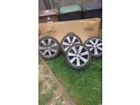 """17"""" mp3 alloy wheels with tyres"""