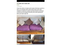 Free!!!! 2 seater and 3 seater sofa need gone asap