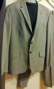 BRAND NEW 50% off Genuine Paul Smith $1300 Mens Summer Suit 46R XL 100% Fine Wool Made in ITALY Check Gray DEADSTOCK