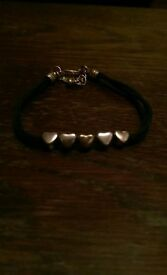 Cute Navy and Silver Bracelet