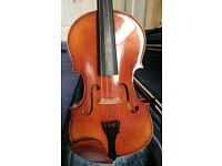Viola with case, 2 bows, and shoulder rest - Divertimento 15""