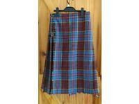 VINTAGE Kilt made in Perth sz 10 12 great skirt or fancy dress