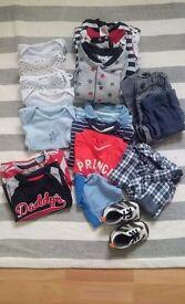 Bundle of boys clothes age 9-12 months