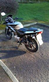 Honda CBF 125cc Silver and Black