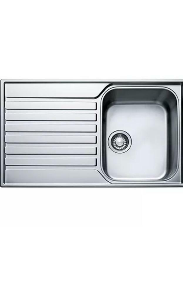 Franke ASX611 Stainless Steel Kitchen Sink WITH Pull Out Rinser TAP