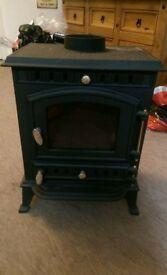 1× new log burner 1× used log burner