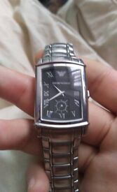 Amarni stainless steel watch comes with stainless steel black. case watch is mint open to offers