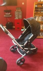 Mothercare pram black 3in1 travel system