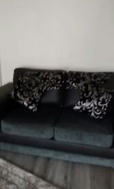 3+2 fabric leather and fabric sofas 3 months old sell