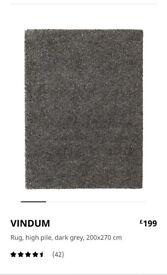 Large ikea vindum rug, dark grey (200x270cm )