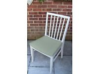 Shabby Chic Dining/Living/Kitchen Chairs painted in Antique White Colour