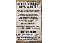 Wanted: Vintage and Collectable Toys games and consoles