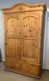 Wardrobe antique pine