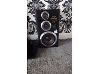 2x AIWA SX-D10 SPEAKER SYSTEM 150W WITH TIBO AMP BLUETOOTH