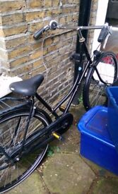 Black Dutchie Bicycle Single Speed with Rear Rack