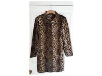 Ladies Jeffrey Rogers Leopard Print Coat, size 12
