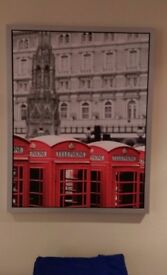 FREE Framed Picture of LONDON telephone booths 77x57 cm from IKEA