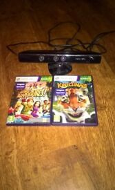 xbox 360 Kinnect & 2 games