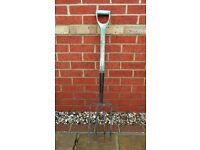 Long Handled Garden Fork Gardening Tool Bent Prongs