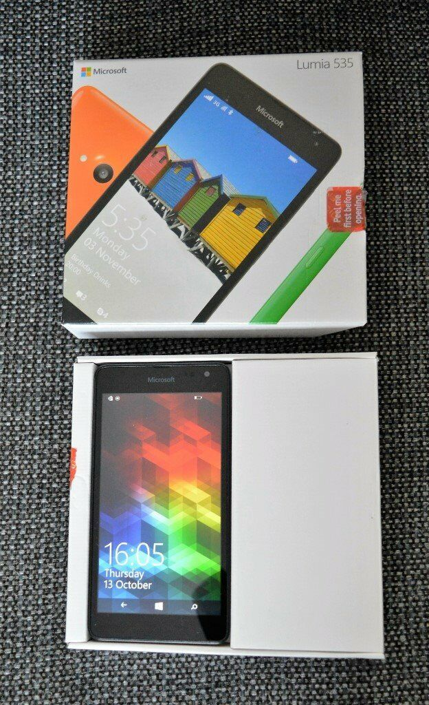 MICROSOFT LUMIA 535 SMARTPHONE 8GB Blackin Peterborough, CambridgeshireGumtree - Unlocked, hardly used smartphone. No instructions but can download manual from the web. Can provide a charger but not the original one. All in excellent working order. Collection from Dogsthorpe