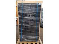 Bisley Two Door Steel Storage Office Cupboard 914 x 400 x 1806mm Black 4 Shelves