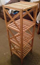 2 wooden shelves x £15