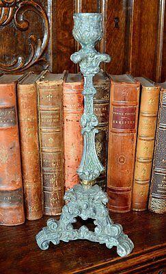 Antique French Gothic Candlestick Gargoyle Candle Holder