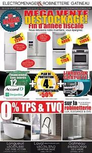 MEGA DESTOCKING SALE, NEVER SEEN BEFORE! 22 to 26 SEPT 2016 APPLIANCES & FAUCETS/BATHROOM PRODUCTS
