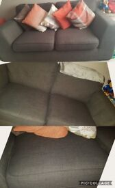 Two DFS 2 seater sofas.