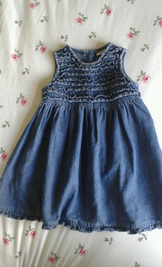 Girls next denim dress age 12-18 months | in Bedford ...