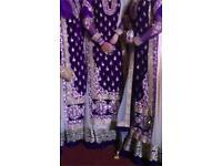 ***** Purple Velvet Heavy Stoned lengha design dress On SALE!! £155