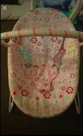 Pink simple bouncy chair