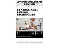 Sewing Classes at London College of Fashion