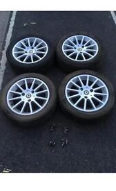 2007-13 smart for two alloy wheel set x4 good tyres
