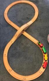 Child's first wooden train set