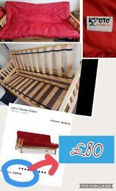3 Seat Futon Sofa bed £80--- 0.N.O