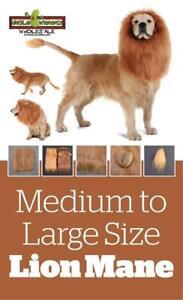 NEW LION MANE DOG COSTUME MEDIUM TO LARGE DOGS 02233