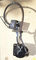 Suzuki GS400 brake assembly master cylinder brake lever cable