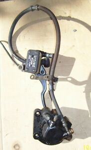 Suzuki GS400E brake assembly master cylinder brake lever cable