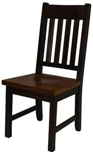 Amish Made Heavy Slat Back Dining Chair kit and assembled - FREE SHIPPING