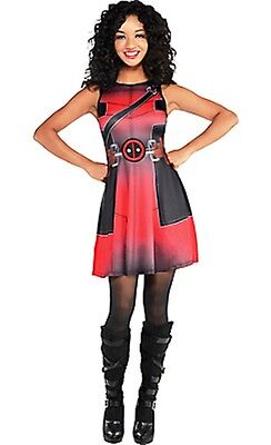 Deadpool Wade Wilson Sleeveless Female Costume Dress Marvel Comics Size 6-8 New ](Marvel Superheroes Costumes)