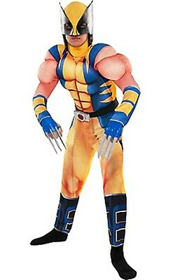 Wolverine X-Men Kinder Muskel Kostüm Marvel Comics Größe Medium 8-10 Neu ()